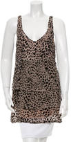 Jasmine Di Milo Sleeveless Leopard Pattern Top