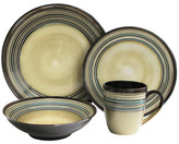 Jay Import Brown Savannah 16-Piece Dinner Set