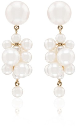 Sophie Bille Brahe Botticelli pearl drop earrings
