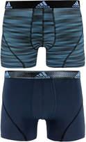 adidas Men's 2-Pk. Sport Performance ClimaLiteandreg; Graphic Trunks