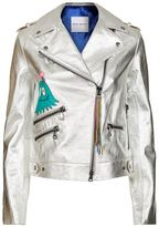 Mira Mikati Hand-Painted Metallic Leather Jacket