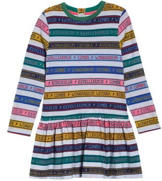 Boden Mini Harry Potter Charms Class Stripe Dress