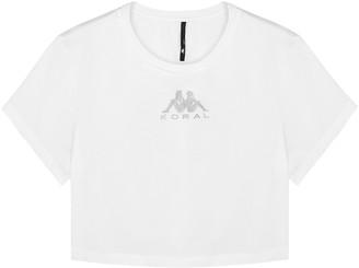Koral Activewear X KAPPA Terrain cropped logo jersey T-shirt