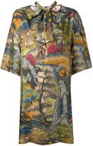 Antonio Marras forest (Green) print shift dress - women - Silk - 44