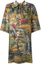 Antonio Marras forest print shift dress - women - Silk - 44