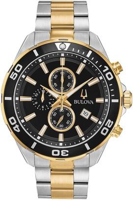 Bulova Men's Quartz Analog Two-Tone Bracelet Watch, 44mm