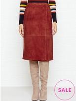 LK Bennett Riley Leather Wrap Skirt