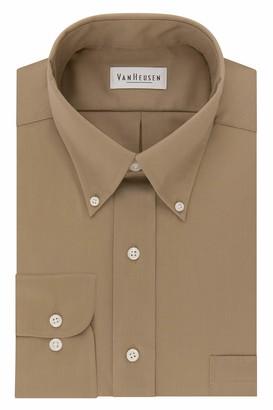 Van Heusen Regular Fit Twill Solid Button Down Collar Dress Shirt