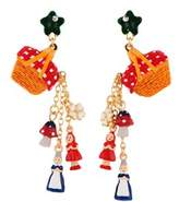 Les Nereides Into The Woods Hamper Pouring Charms Earrings.