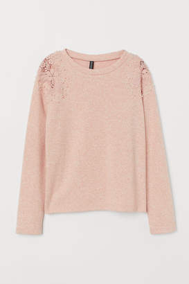 H&M Sweater with Embroidery - Pink