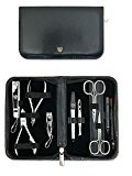 THREE SWORDS - Exclusive 10-Piece MANICURE - PEDICURE - GROOMING - NAIL CARE set / kit / case - basic-standard quality (000286)