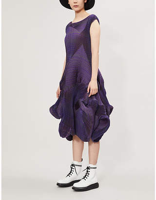 Issey Miyake Flower Pleated Woven Dress
