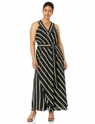 Rachel Roy Women's Plus Size Jacey Stripe Racer Maxi Dress
