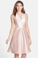 Alfred Sung Women's V-Neck Dupioni Cocktail Dress