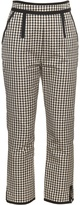 Isa Arfen High-waisted checked cotton-blend trousers