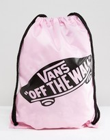 Vans Off The Wall Drawstring Bag In Pink Lady
