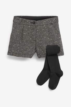 Next Girls Black Shorts (3-16yrs) - Black
