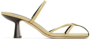 BY FAR Yellow Edita Heeled Sandals