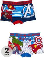 Marvel Avengers 2 Pack Of Boys Trunks