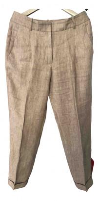 Cappellini Beige Linen Trousers for Women