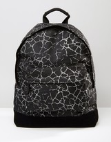 Mi-Pac Cracked Backpack In Black