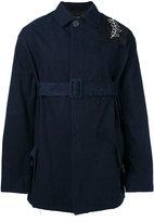 Damir Doma Jess belted coat - men - Cotton/Cupro - S
