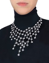 Ileana Creations Evatini Crystal Web Necklace