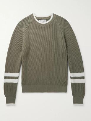 Brunello Cucinelli Striped Ribbed Cotton Sweater