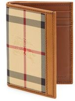 Burberry Checked Leather Billfold Wallet