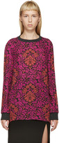 Mary Katrantzou Fuchsia and Red Silk Floral Shirt