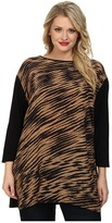 Nic+Zoe Plus Size Blurred Lines Tunic Top