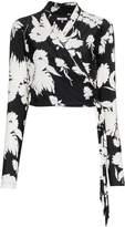 Ganni alameda floral print wrap top