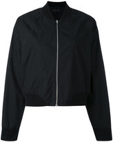 Rag & Bone Jean shoulder embroidery bomber jacket