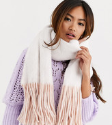 My Accessories London Exclusive reversible scarf in pink and cream