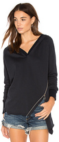 525 America Asymmetric Zipper Hoodie in Blue. - size M (also in )