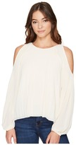 Romeo & Juliet Couture Cold Shoulder Pleated Top
