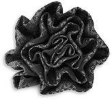 1670 Plaid Flower Pin