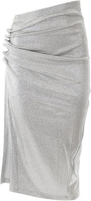 Paco Rabanne Drapped Button Skirt