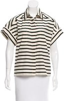 Sea Short-Sleeve Striped Top