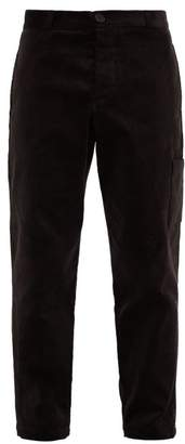 Oliver Spencer Judo Cotton-corduroy Cargo Trousers - Mens - Black