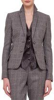 Akris Fine Windowpane Check Cashmere-Blend Blazer