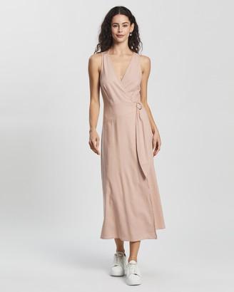Atmos & Here Mia Linen-Blend Midi Dress