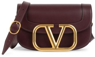 Valentino Supervee Leather Saddle Bag