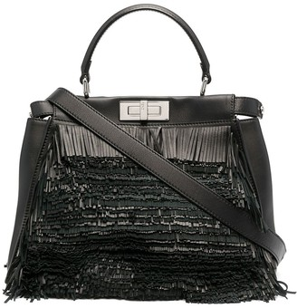 Fendi Pre-Owned fringed Peekaboo two-way bag