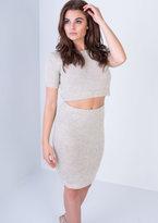 Missy Empire Julieta Beige Knitted Co-ord