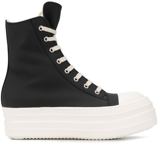Rick Owens Chunky Sole High Top Trainers