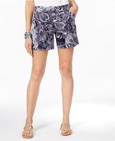 INC International Concepts Paisley-Print Curvy Shorts, Only at Macy's