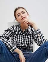 Glamorous Gingham Frill Shirt