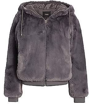 Maje Women's Bayana Hooded Faux Fur Jacket