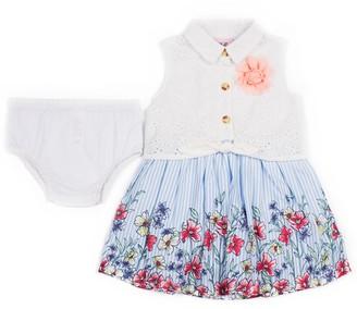 Little Lass Baby Girl Floral Print Dress